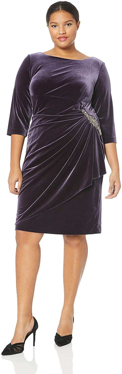 Plus Size Velvet Dress 01