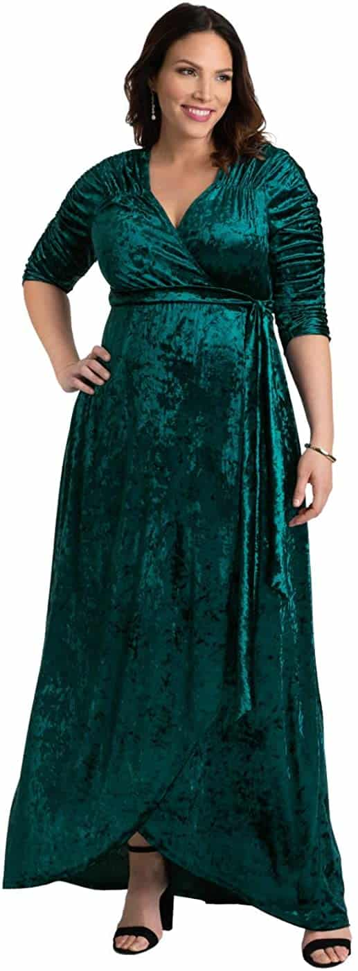 Plus Size Velvet Dress 02