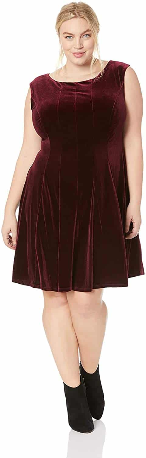 Plus Size Velvet Dress 03