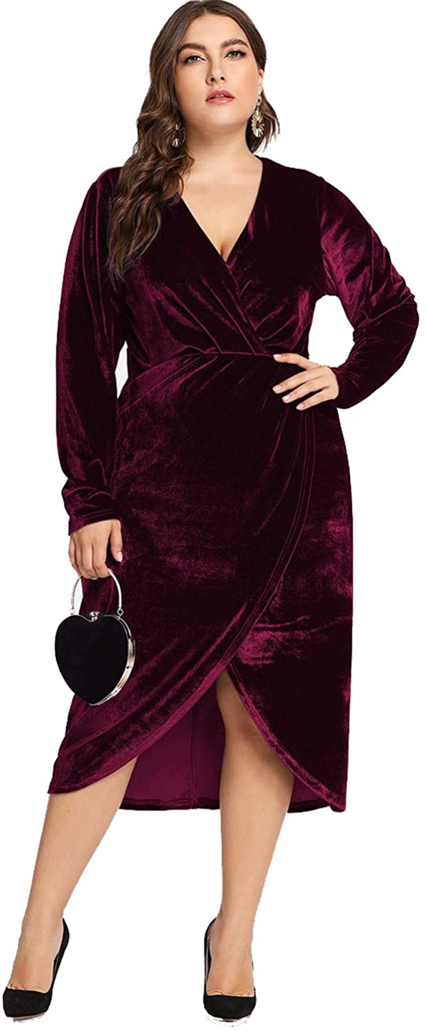 Plus Size Velvet Dress 05