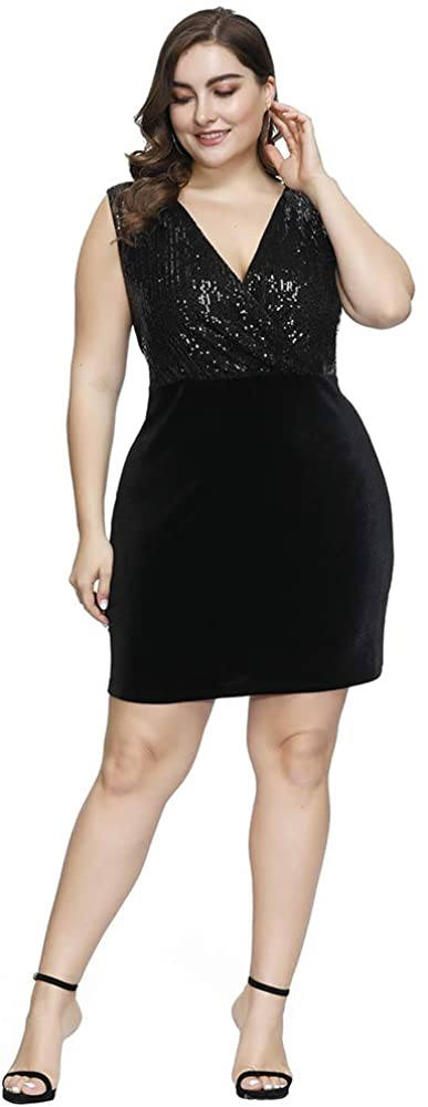 Plus Size Velvet Dress 08