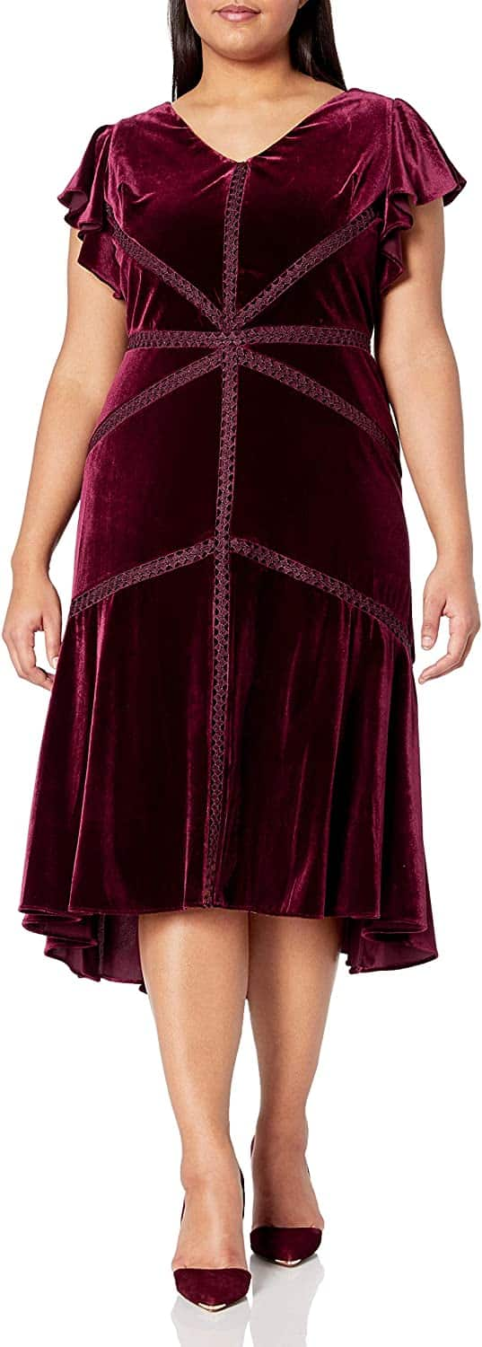 Plus Size Velvet Dress 09