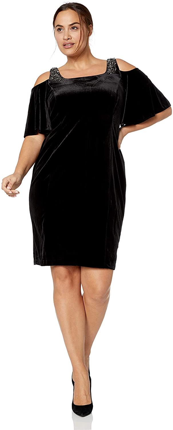 Plus Size Velvet Dress 12